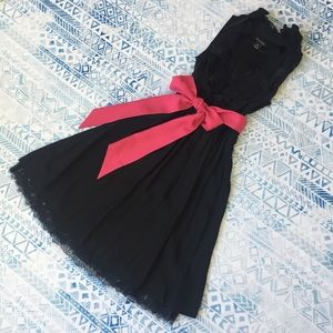 WHBM Black Silk Party Dress